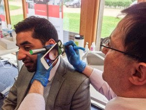 Endoscopic Microsuction Demonstrated By Mr J Levy of the Microsuction Ear Wax Removal Network. The Microsuction Ear Wax Removal Network are the first London clinics to offer endoscopic microsuction. In a 2010 Health Technology Assessment, Endoscopic wax removal was shown to be superior to Microscopic wax removal. For endoscopic wax removal and endoscopic microsuction, book your appointment on 0800 1 337 987