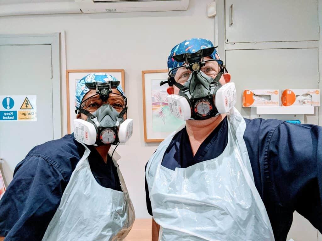 charlotte matiba with fellow ear wax removal expert jason levy