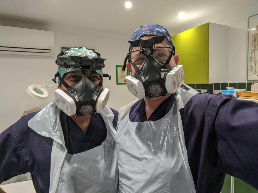 geeta patel with fellow ear wax removal expert jason levy
