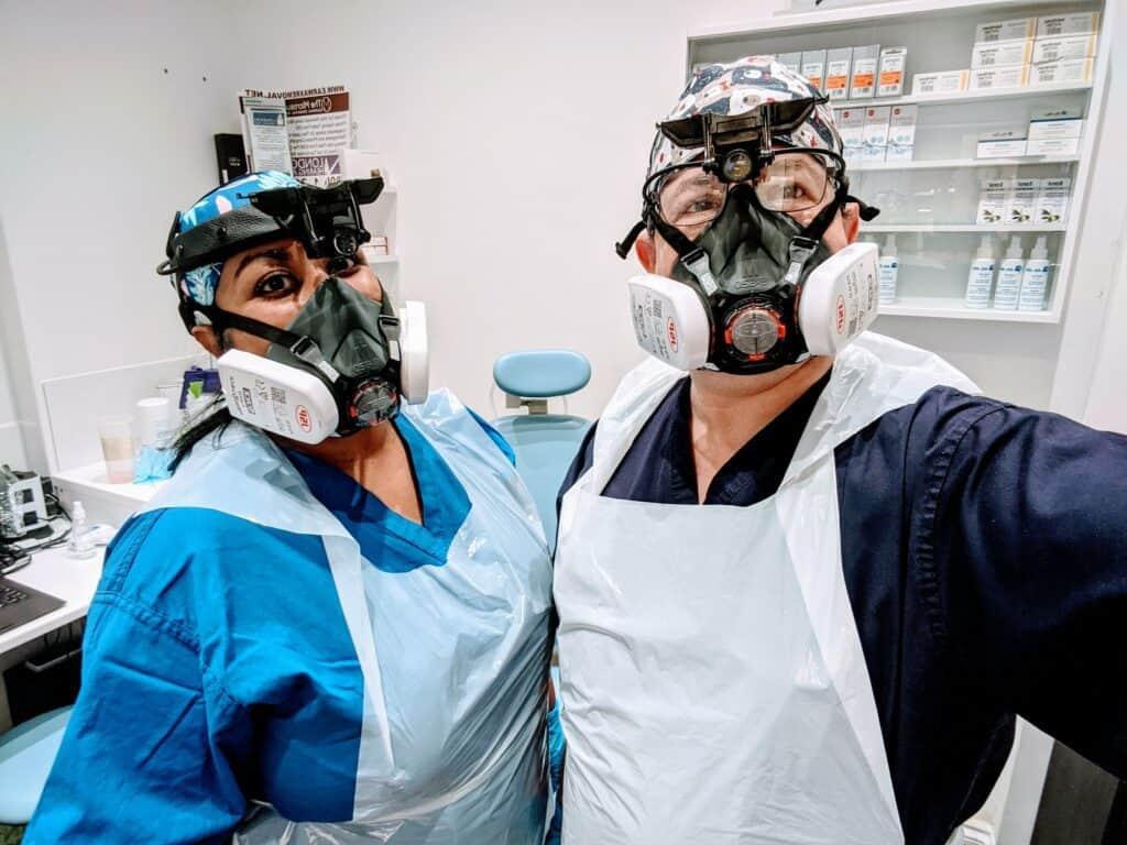 nishali baker and fellow ear wax removal expert jason levy